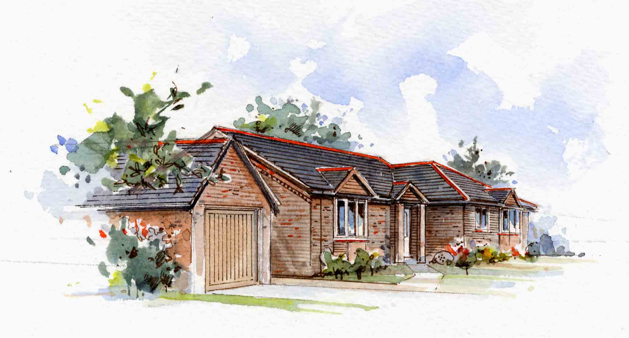 Axminster Bungalow Artist Impression